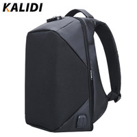 KALIDI Business Men Backpack Anti Theft Waterproof 15 6 Inch Laptop Backpack External USB Charge Bag