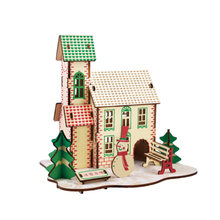 DIY Model toys 3D Wooden Puzzle a wonderful house of ice and snow Kits Game Assembling Toys Gift for Kids P14