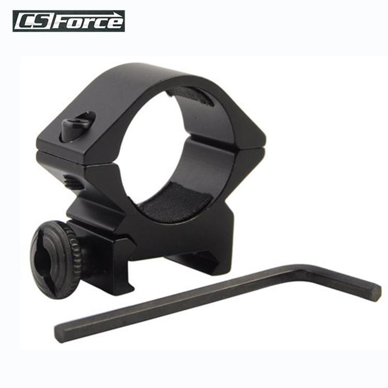 Tactical Barrel 25.4mm/30mm Low QD Scope Torch Laser Sight Flashlight Ring Mount 20mm RIS Rail Airsoft Hunting Rifle Gun Scope(China)