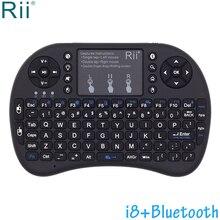 Rii i8 + podświetlany Mini bezprzewodowa klawiatura Bluetooth air mouse z touchpadem dla tv box z androidem, Mini PC, projektory, laptopy