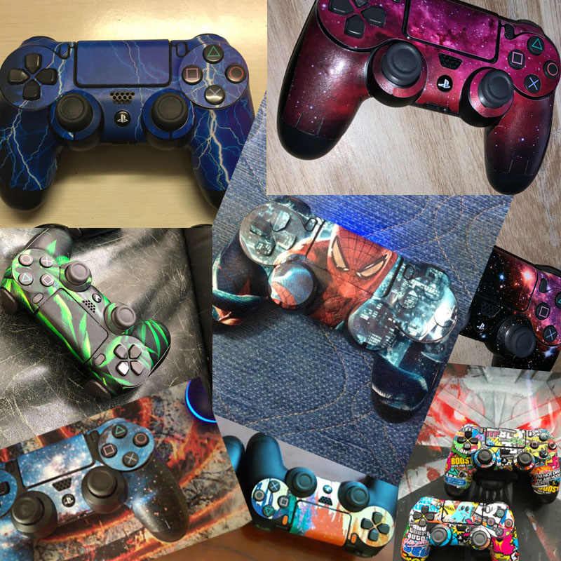 Protective Cover Sticker For PS4 Controller Skin For Playstation 4 Pro Slim Decal Accessories 10 Styles