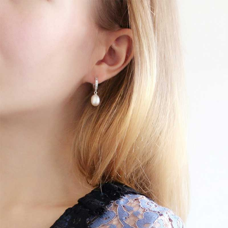 HENGSHENG 100% Pravi biser nakit prirodni biser naušnice kultivirani - Modni nakit - Foto 3