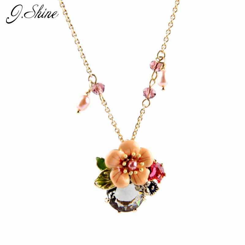 966c03482 عالية الجودة العلامة التجارية تصميم المينا الزهور تركيا مجوهرات الساخن  بوهيميا الشاطئ طويل قلادة قلادة المينا الزهور سلسلة قلادة