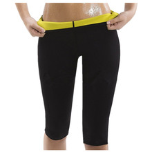Explosion RiauDe womens high quality slim pants neoprene sportes tights fitness stretch waist shaping body