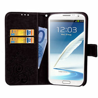 For Samsung Galaxy Note 2 Case Leather Wallet Flip PU Case For Samsung Note 2 N7100