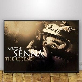Ayrton Sennaดาซิลวาศิลปะผ้าไหมโปสเตอร์ตกแต่งบ้าน12x18 24X36นิ้ว