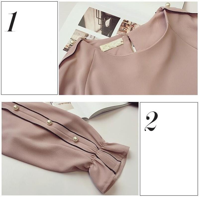 HTB1E4bDOFXXXXb8apXXq6xXFXXXD - Chiffon Blouses Plus Size M-4XL Korean Women Long Sleeve