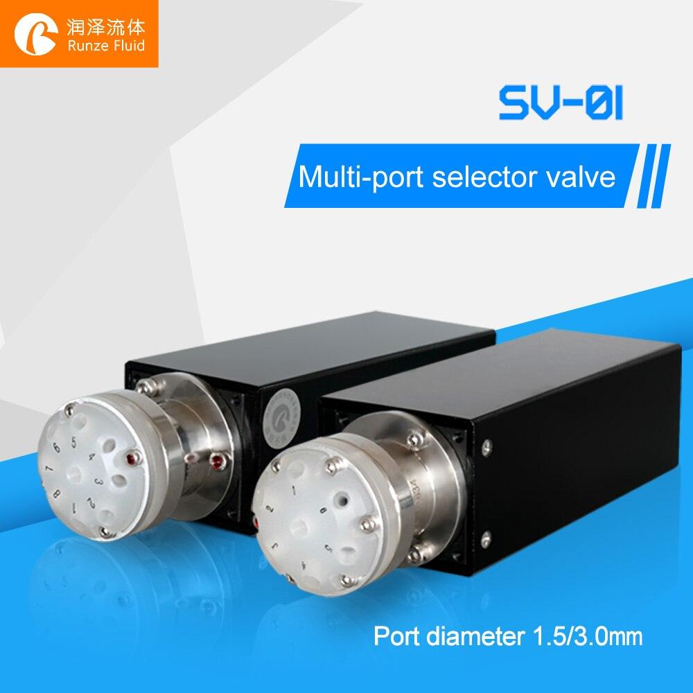 Distribution de liquide multidirectionnelle à Six positions et à sept ports RS232 programmation rapide facile Support OEM haute Performance - 4