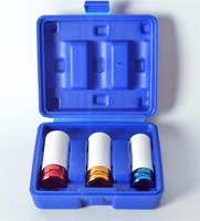 Top Quality 3 Pcs 1 2 Inch Dr Color Code Thin Wall Deep Impact Socket Set