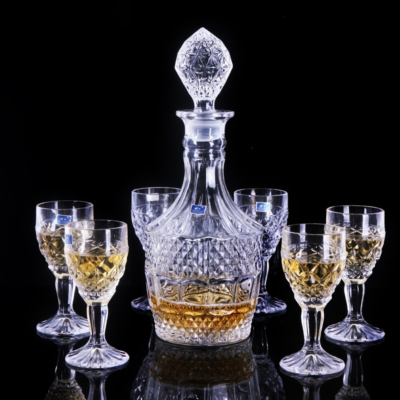 7PCS/SET Fashion European style lead-free crystal glass wine set red wine glass beer mug brandy cup decanter wine set ZP01211808 image