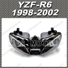 For Yamaha YZF-R6 99 00 01 Motorcycle Part Front Headlight Lamp Assembly For Yamaha YZF-R6 1998-2002 yamaha 60e 8591a 20 00 engine control unit assembly 60e8591a2000 made by yamaha