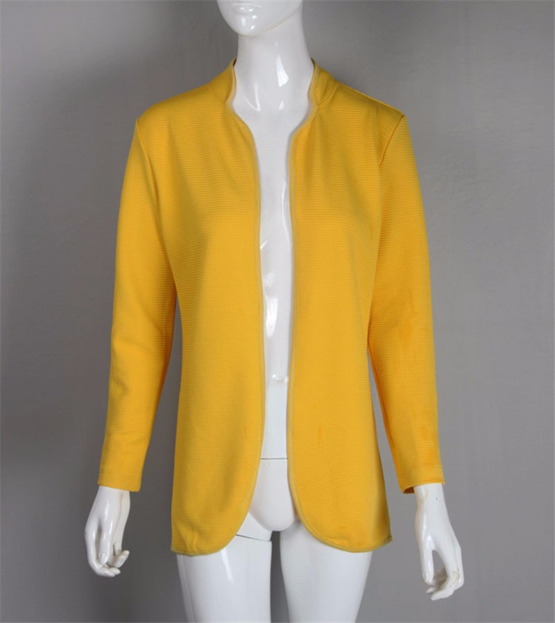 New  Autumn Winter Fashion Women Long Sleeve loose knitting sweater Womens Knitted Female Thick Cardigan yellow WWB27 (3)