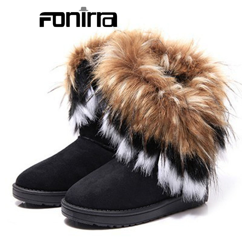 Women Solid Flock Round Toe Slip-on Snow Boots 2016  Winter Fashion Flat With Breathable Comfortable Warm Women Shoes 220 flat with bow ankle boots shoes style women boots round toe platform snow boots for women fashion flock short outdoor shoes