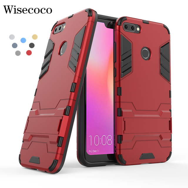 sale retailer bf1b7 c860f US $4.96 |For Huawei P20 P10 Lite Pro Y5 Y7 Y8 Y9 2017 2018 Mate 20 10 Case  Shockproof Armor Stand Phone Cases For Honor 10 9 V9 Play v10-in Fitted ...