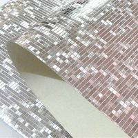 Modern Luxury Glitter Mosaic Wallpaper Roll Background Wall Gold Foil Wall Paper KTV Bar Room Decor Silver Ceiling Wall Covering