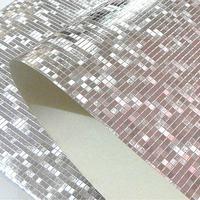 Moderno de Luxo Brilho Rolo De Papel de parede do Fundo Da Parede de Mosaico Da Folha de Ouro Papel de Parede Revestimento de Parede Bar KTV Decoração do Quarto de Teto de Prata