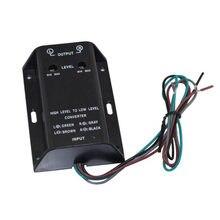 Áudio do carro rca alto-falante conversor adaptador alto a baixo nível de saída baixo adaptador de áudio fio