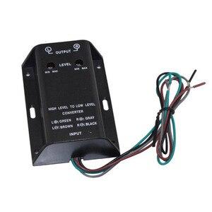 Автомобильный аудиокабель RCA для колонок преобразователь адаптер Выход высокого и низкого уровня бас аудиоадаптер провод