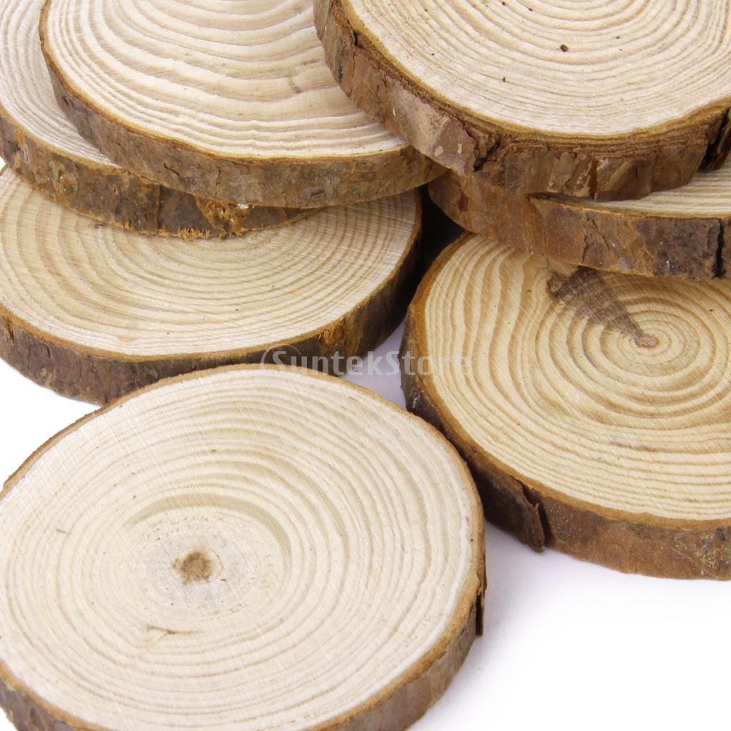 phenovo rodajas de madera de pino para los artes de diy decoracin de la boda