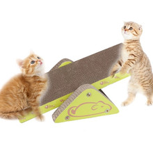 Pet Cat Toy S-shaped Scratcher with Catnip Lounge Handmade Kitten Scratching Post Interactive Toy Seesaw For Pet Cat Training