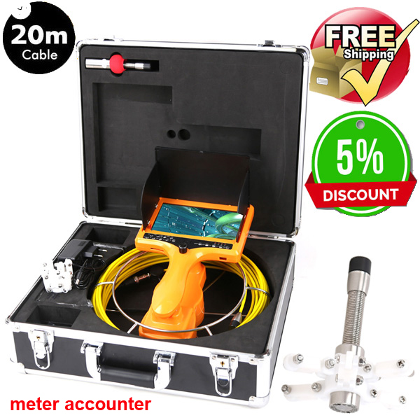 40M Drain Endoscope Pipe Inspection Camera Pipe Sewer Camera Waterproof Pipe Plumbing Camera  with meter accounter40M Drain Endoscope Pipe Inspection Camera Pipe Sewer Camera Waterproof Pipe Plumbing Camera  with meter accounter