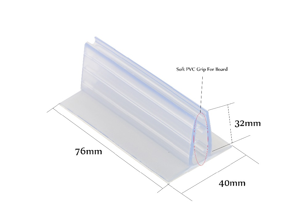 US $12 5 12% OFF Adhesive Flush Mount Holder Foam Board Signage Pvc  Expansion Sheet Gripper Clip Wall Table Shelf Rack Flag Kt Card Poster  Grip-in