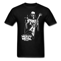 2017 Fashion New Heavy Metal Music T Shirt Man Navy Blouses Personalized Funny Darth Vader For