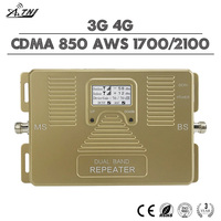ATNJ 3G 4G Mobile Signal Booster CDMA 850 AWS 1700 2100 Cellphone Signal Repeater 70dB Gain 4G LTE Amplifier With LCD Display