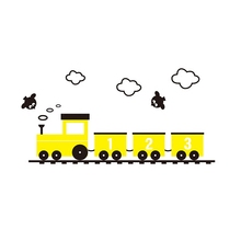 Kindergarten children room 3d acrylic wall sticker Cartoon anime lovely Small train wall stickers self-adhesive wallpaper