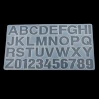 Siliconen Brief Nummer Mold Clear Sieraden Casting Craft Mould voor Resin Epoxy Maken