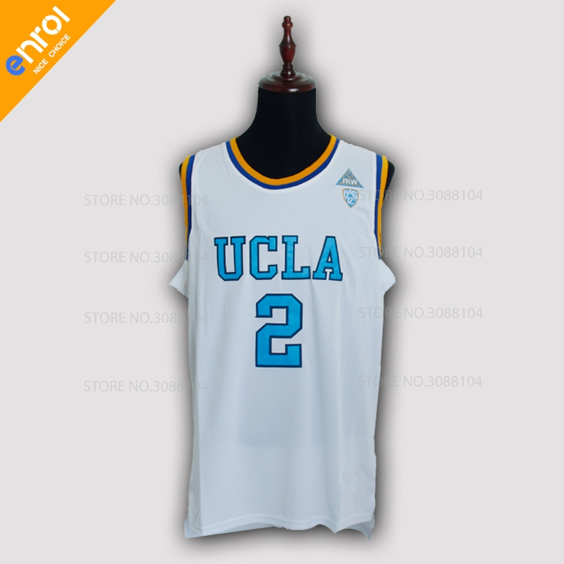 Lonzo Ball UCLA College Basketball Jersey 2  High Quality Breathable  fabrics White Blue Colors Sleeveless Jerseys Throwback-in Basketball  Jerseys from ... cf055aac3