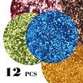 12 pçs/lote Sequin Brilho Das Unhas de Acrílico Dicas Stickers New Nail Art Paillette Acessórios de Decoração para As Mulheres