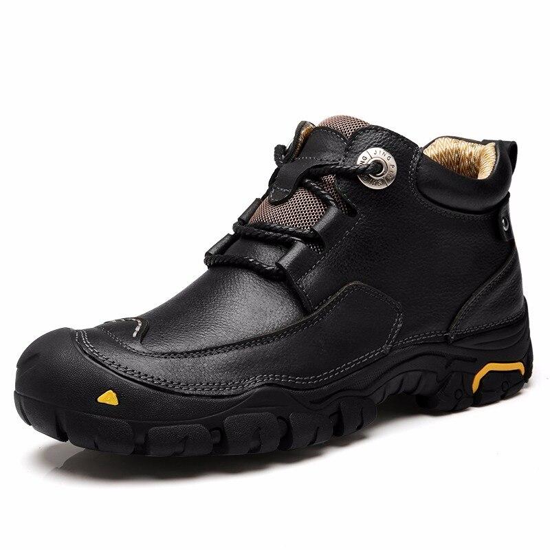 CLAX männer Stiefeletten 2018 Herbst Winter Arbeit Boot Echtes Leder  Männlichen Casual Schuhe Im Freien Zu 3aec799353