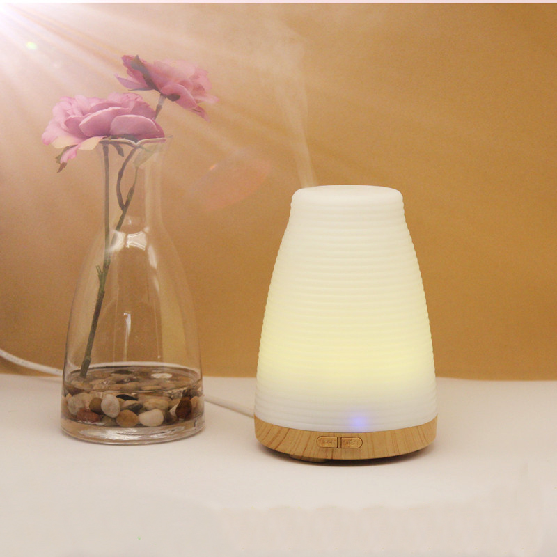100ml LED Humidifier Aroma Essential Oil Diffuser Aromatherapy USB Ultrasonic Mist Maker With LED Night light three 100ml