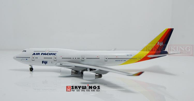 WT4744002 Witty Pacific B747-400 DQ-FJL 1:400 commercial jetliners plane model hobby 1 g27 wt g27 wt