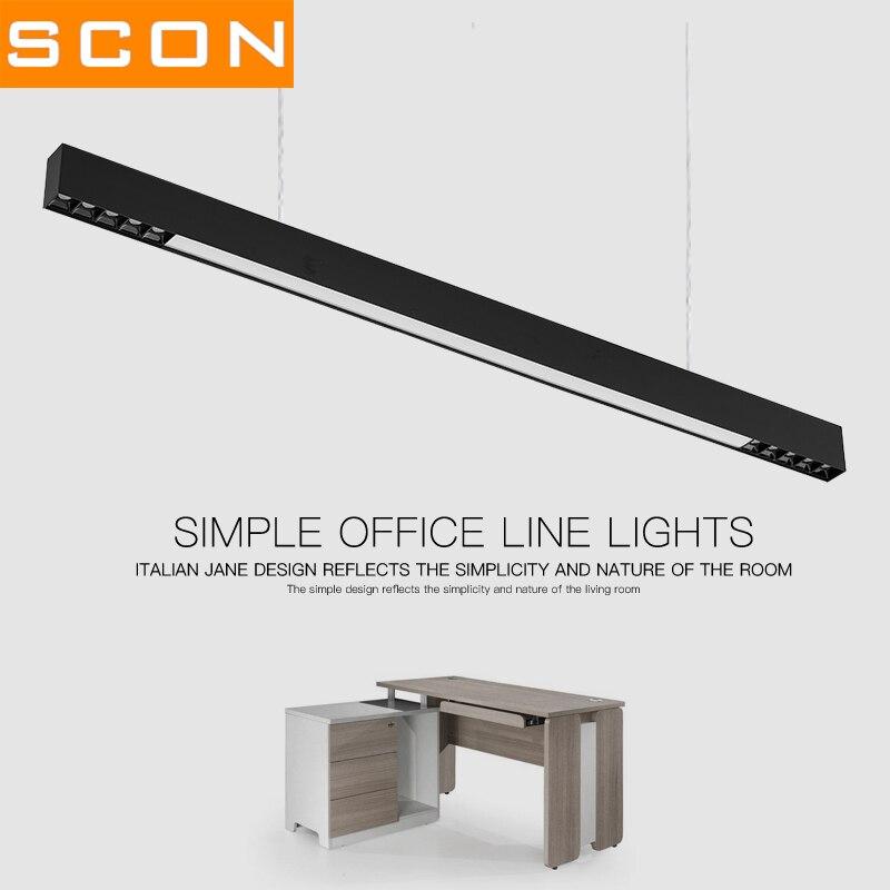 SCON AC110-240V linéaire ligne lampe noir et blanc logement led OSRAM Supermarché barre lumineuse Ra> 85 4000 k naturel éclairage d'intérieur