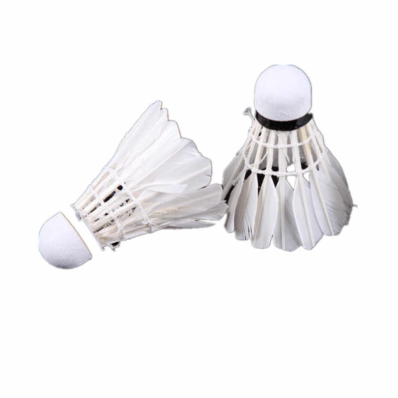 1PCS Badminton Shuttlecocks Goose Feather Shuttlecock Badminton Balls Outdoor Sports Badminton Accessories