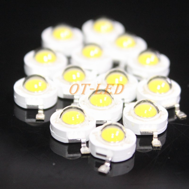 10pcs 1W 3W 5W 4-Chip Warm White 3500K Netrual White 4500K Cool White 6500K Cold White 10000K 20000K <font><b>30000K</b></font> <font><b>LED</b></font> Chip Light Parts image