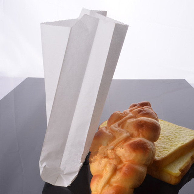Großhandel Pergament Pure White Paper Bags Essen Papiertüte Brot
