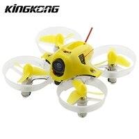 KINGKONG LADRC Quacopter TINY6 65mm Micro FPV RC Drones Com 615 Motores Escovados Baced em F3 Escova Controlador de Vôo Mini brinquedos