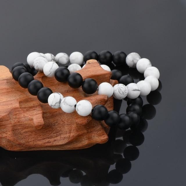 Фото chicvie белый и черный браслет браслеты для мужчин женщин влюбленных цена