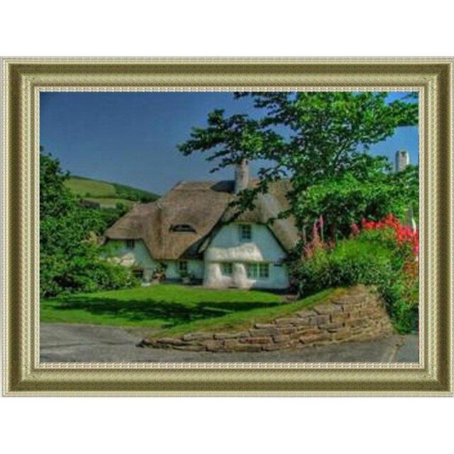 Maison De Vacances Diamant Broderie Pleine Point De Croix Carré