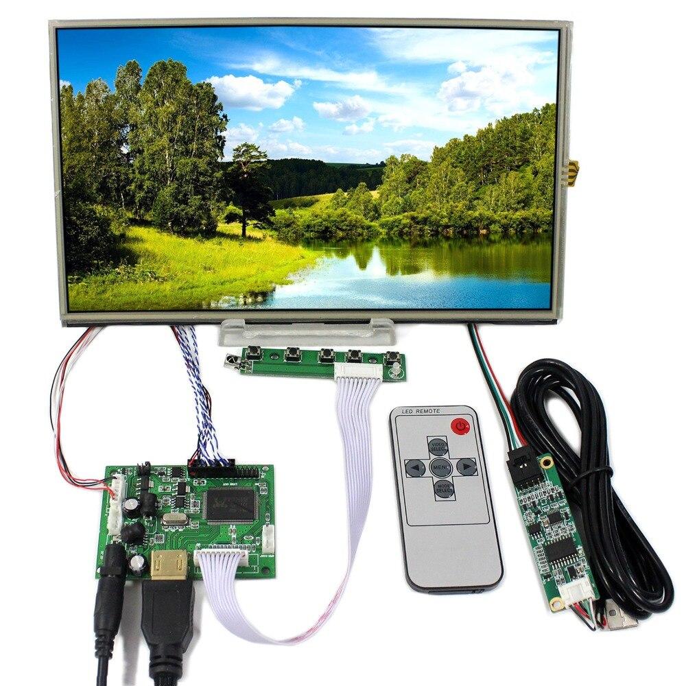 HDMI LCD Controller Board With 10.1inch 1366x768 B101XAN01 IPS LCD With Touch Panel vga hdmi lcd controller board for lp156whu tpb1 lp156whu tpa1 lp156whu tpbh lp156whu tpd1 15 6 inch edp 30 pins 1 lane 1366x768