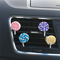 Lovely rainbow lollipop car perfume  Air Freshener Lady car perfume Color candy car modelling decoration Perfumes 100 Original