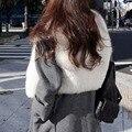 Elegante colete de pele das mulheres de inverno casuais casaco Falso Casaco De Peles Sem Mangas Colete VCollar mulheres vest Jacket Outwear frete grátis