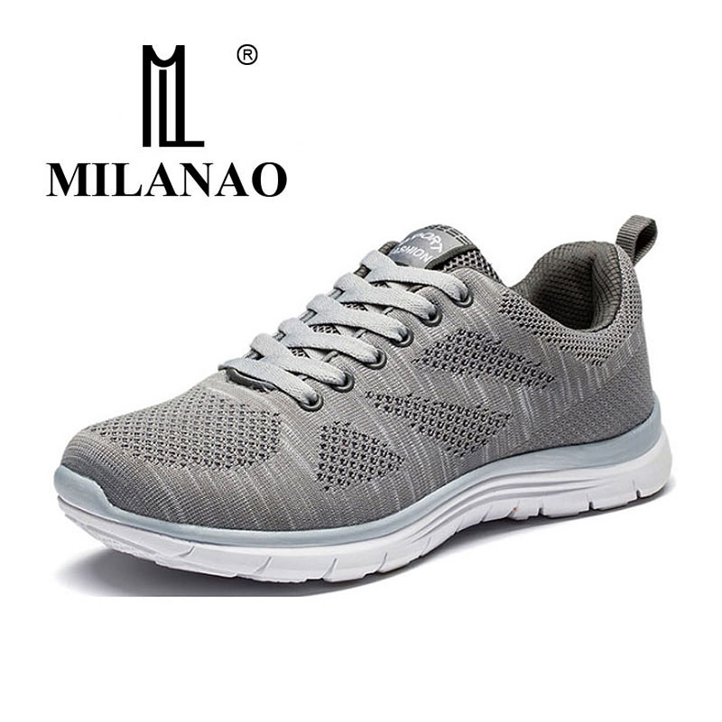 MILANAO New Sports Flyknit Racer Running Shoes For Men & Women . Breathable Men