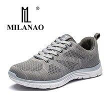 MILANAO новый спортивный Flyknit Racer Кроссовки для бега для Для мужчин и Для женщин. Дышащий Для мужчин спортивная Спортивная обувь красовки Zapatillas