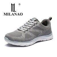 MILANAO Nuevos Deportes Flyknit Racer Zapatos Corrientes Para Los Hombres y Las Mujeres. Krasovki transpirable hombres Zapatillas Deportivas zapatillas