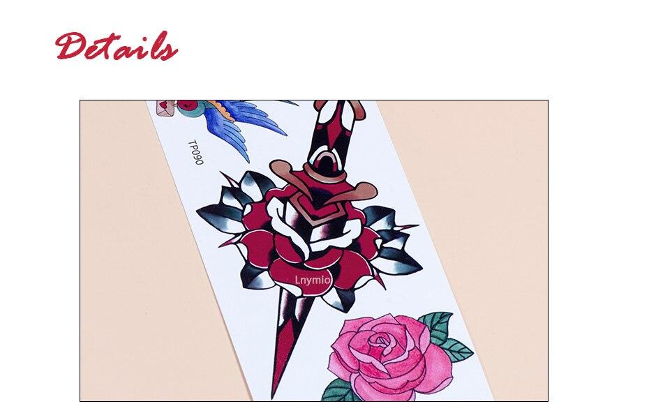 17 School Tattoo sword Panther leopard swallow bird tattoo sticker body art sticker 10