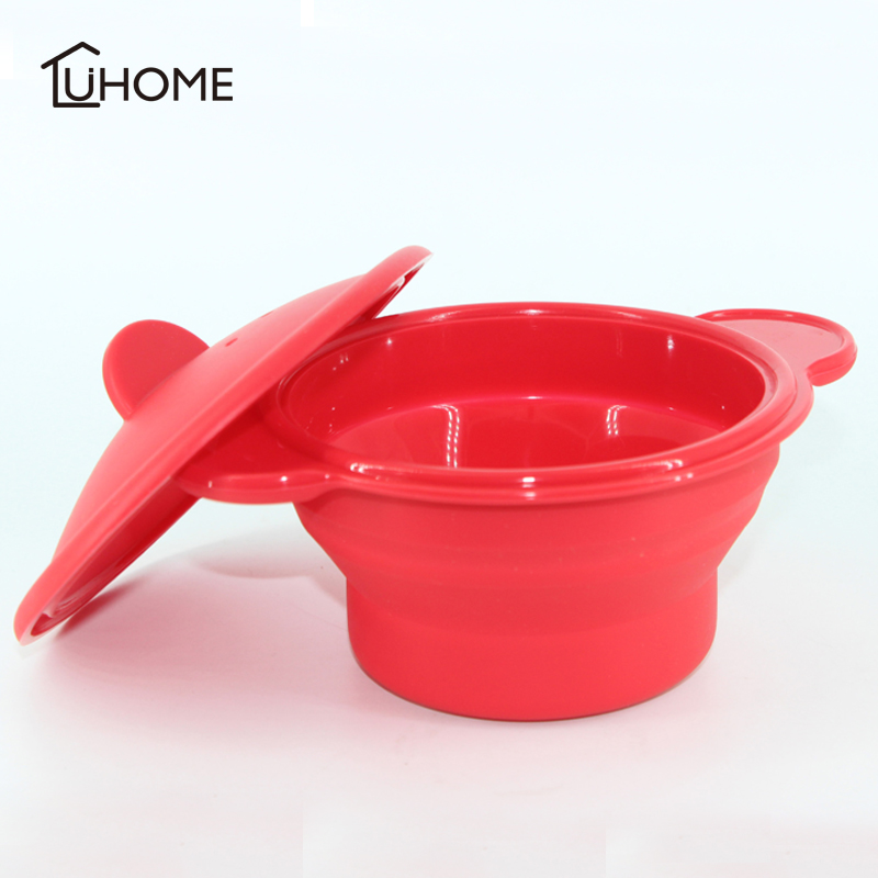 Amazing Silicone Steam Case Steamer Kitchen Gadget Tool For Oven Microwave With Silicone Cover Bowl Basket Kitchen Cooking Tools